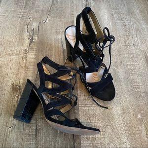 Sam Edelman YARDLEY Tie Strappy Heel Sandals 8